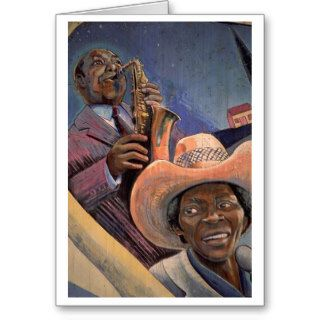 African American Jazz Greeting Card