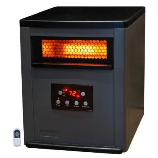 Lifesmart 1500 Watt 1500 Sq ft. 6 Element Infrared Room Heater with Two Tone Cabinet and Remote LS 6BPIQH X IN