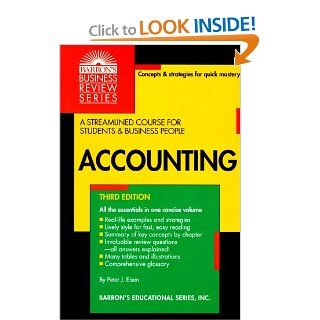 Accounting (Barron's Business Review Series): Peter J. Eisen: 9780812019179: Books