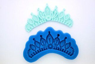 PRINCESS CROWN TIARA / SWAG QUINCE QUINCEANERO SILICONE MOLD FOR FONDANT, GUM PASTE, CHOCOLATE, HARD CANDY, FIMO, CLAY, SOAPS Candy Making Molds Kitchen & Dining