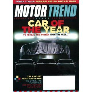 Motor Trend January 2011 Car of the Year (Chevy Volt), Ferrari 458 vs Ducati 1198S, First Drive Lexus CT 200H, Veyron Supersport, Epic Road Trip Motor Trend Magazine Books