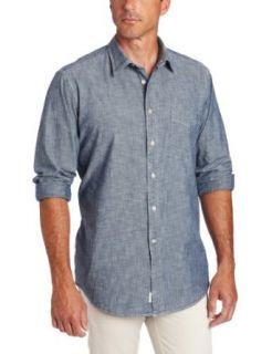 Faconnable Tailored Denim Men's Indigo Chambray Shirt, Blue, Medium at  Men�s Clothing store