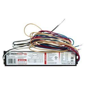 GE 2 or 1 Lamp T8 Program Start 120 277 Volt Electronic Ballast (Case of 10) GE232 MVPS N