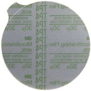 """3M 468L 30 Grit, 5"""" x NH Silicon Carbide Microfinishing PSA Film Type D Disc Green (25 Pack) Industrial & Scientific"""