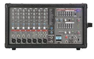Phonic Powerpod 740 FR 7 Channel Powered Mixer with DFX and USB Recorder (Standard) Musical Instruments