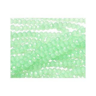 Green Opal Crystal Faceted Rondelle 3mm Beads