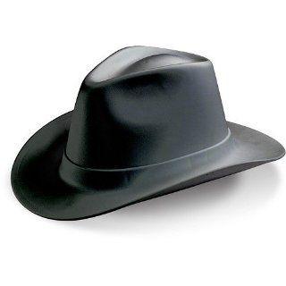 Cowboy Style Hard Hat, Ratchet Suspension, Wide Brim, Black Hardhats Industrial & Scientific