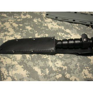 Ontario 498 Marine Combat Knife (Black) : Fixed Blade Camping Knives : Sports & Outdoors