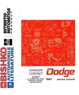 1967 Dodge Charger Coronet Dart Shop Service Repair Manual CD Engine Drivetrain Automotive