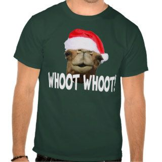 Christmas Hump Day Camel Whoot Whoot T shirt