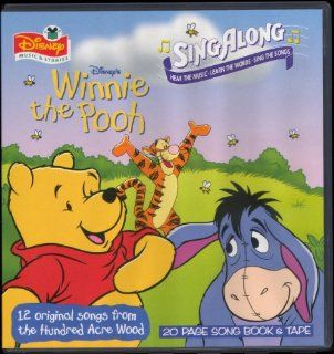 Disney SingAlong Winnie The Pooh Book With Cassettes Tape In Hard Case Music