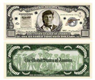 Set of 10 Bills Jesse James One Hundred Thousand Dollar Bill Toys & Games