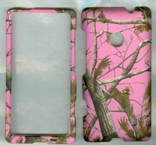 Nokia Lumia 521/ Lumia 520 Pink Camo Rt Tree Skin Hard Case/cover/faceplate/snap On/housing/protector Fo: Cell Phones & Accessories