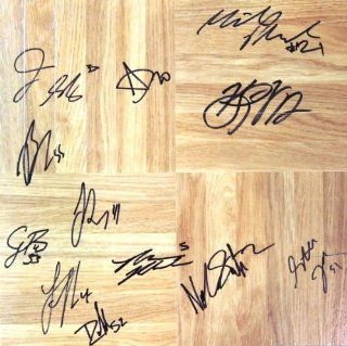 2009/2010 National Champions Duke Blue Devils Autographed Wood floor board signed by Nolan Smith and 11 more players Sports Collectibles