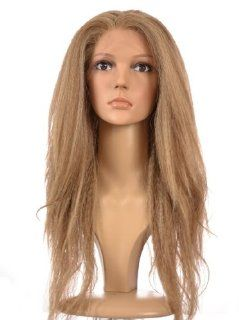Ash Blonde Fergie Crimped Yaki Style Lace Front Wig  In the style of Tyra Banks, Fergie Fearne Cotton & Janet Jackson : Hair Replacement Wigs : Beauty