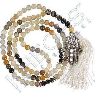 Gemstone Mala Fatima Hand Moonstone & Smokey Qtz  Other Products