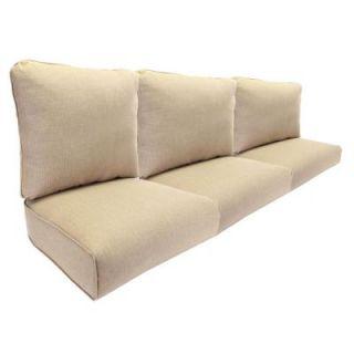 Hampton Bay Woodbury Textured Sand Replacement Outdoor Sofa Cushion JY9127 S CUSH