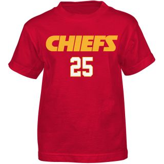 NFL Team Apparel Youth Kansas City Chiefs Jamaal Charles Primary Gear Name And