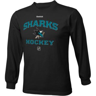REEBOK Youth San Jose Sharks Authentic Predecessor Team Color HD Long Sleeve T
