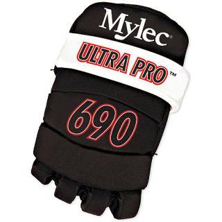 Mylec Ultra Pro Roller Hockey Player Gloves   Size Junior, Black (692)