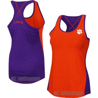 COLOSSEUM Womens Clemson Tigers Bristol Tank   Size: Small, Purple/orange