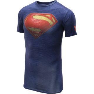 UNDER ARMOUR Mens Alter Ego Superman Suit Short Sleeve Compression T Shirt