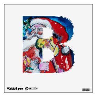 CHRISTMAS B LETTER /SANTA  CLAUS WITH VIOLIN WALL SKINS