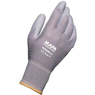 """MAPA Ultrane 551 Polyurethane Palm Coated Glove, Work, 9 1/4"""" Length, Size 10, Gray (Bag of 12 Pairs) Industrial & Scientific"""