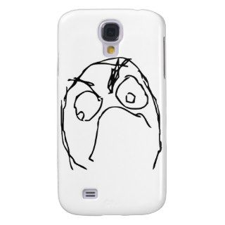Angry Unhappy Meme Face Samsung Galaxy S4 Covers