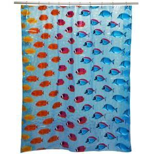 Famous Home Fashions Key Largo Lt Blue Shower Curtain 901957