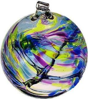 "September Birthday Wish Birthstone Hanging Witch Ball Ornament 6"" by Kitras Art Glass   Decorative Hanging Ornaments"