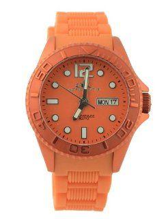 Adee Kaye #AK543 L Women's Orange Aluminum Rubber Strap Casual Sports Watch Adee Kaye Watches