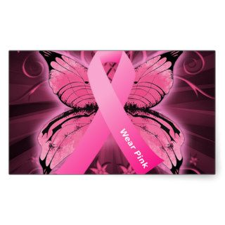 Think Pink Breast Cancer Ribbon Sticker
