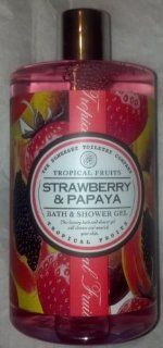 Asquith & Somerset Tropical Fruits Strawberry & Papaya Bath & Shower Gel 17 Fl.Oz. From England Health & Personal Care