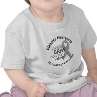 I Wear Grey For My Diabetes Support Diabetes Awar Tee Shirts