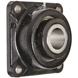 "Link Belt FU332 Ball Bearing Flange Unit, 4 Bolt Holes, Heavy Duty, Relubricatable, Non Expansion, Cast Iron, Spring Locking Collar, Inch, 2"" Bore Diameter: Flange Block Bearings: Industrial & Scientific"