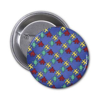 Autism Awareness Puzzle Background Buttons