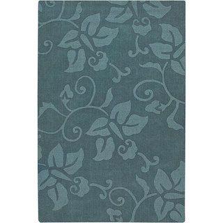 Hand tufted Mandara Blue Wool Rug (5' x 7') Mandara 5x8   6x9 Rugs