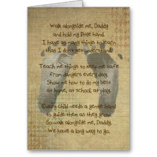 Poem for a Daddy Greeting Cards