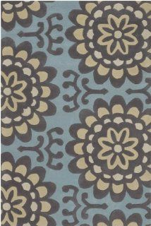 Chandra Amy Butler AMY13200 576 5 Feet by 7 Feet 6 Inch Area Rug   Handmade Rugs
