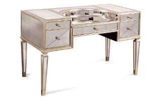 Borghese Mirrored Desk   Home Office Desks
