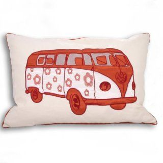Carnaby Orange Camper Van Cushion Cover 35 x 50   Throw Pillow Covers