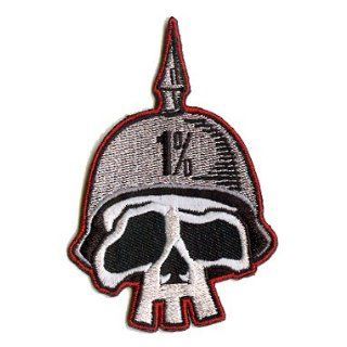 Artist Kruse 1% One Percent Skull Helmet Embroidered iron on motorcycle Biker Patch: Clothing