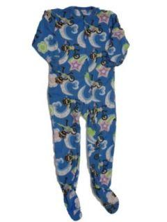 Circo Girls Blue Monkey Fleece Blanket Sleeper Union Suit Pajamas: Pajama Sets: Clothing