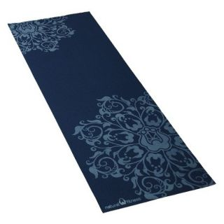 Natural Fitness Eco Smart Yoga Mat   24x69x4mm, Indigo/Aqua