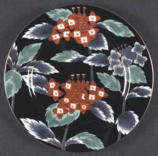Fitz & Floyd Fleurs Chinoises Accent Salad Plate, Fine China Dinnerware   Rust&B