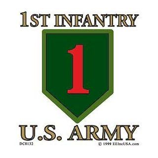 US Military Armed Forces Window Sticker Decal   Army  USN Navy  USMC Marine Corps  USAF Air Force  USCG Coast Guard   1st Infantry Division Logo: Automotive