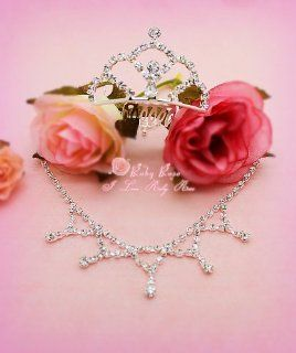 ** Forever Love ** RUBY ROSE Jewelry Set   Crystal Rhinestone Necklace and Crown ~ Fits 18'' American Girl Doll Toys & Games