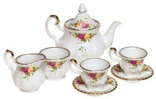 Royal Albert Old Country Rose Children's 8 Piece Tea Set Kitchen & Dining