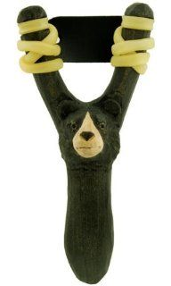 Bear Wood Carved Sling Shot   Wooden Slingshot